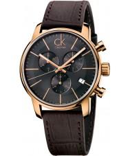 Calvin Klein K2G276G3 cidade dos homens cinza marrom relógio cronógrafo