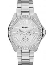 Fossil AM4481 Senhoras prata cecile relógio cronógrafo de aço