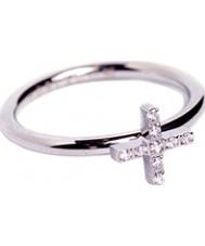 Edblad 79437 Ladies fé anel de aço Zircona cúbicos - o tamanho p (m)