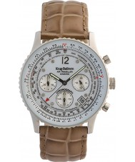 Krug-Baumen 400501DS viajante Air mostrador branco pulseira marrom