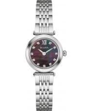 Bulova 96S169 Damas de diamante de aço de prata pulseira de relógio