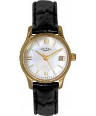 Rotary LS02368-41 Senhoras relógios de ouro vestido eco relógio banhado