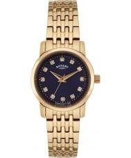 Rotary LB02462-05 Senhoras relógios Sloane pulseira rosa relógio do aço ouro