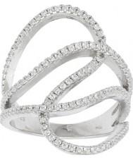 FROST by NOA 145006-54 Ladies ródio anel com zircônia cúbica - tamanho n