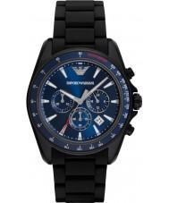 Emporio Armani AR6121 Esportes dos homens relógio preto cinta mista