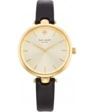 Kate Spade New York 1YRU0811 Ladies holland couro preto relógio pulseira