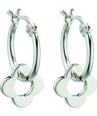 Orla Kiely E5226 Senhoras esterlina quatro pontos brincos flor de argola de prata