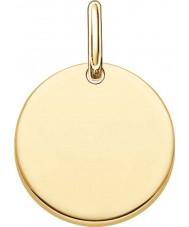 Thomas Sabo LBPE0001-413-12 As senhoras amam ouro amarelo 18 quilates ponte pingente banhado