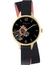 Radley RY2402 Fleet Street Ladies couro preto relógio pulseira