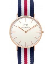 Daniel Wellington DW00100030 Ladies clássico Canterbury 36 milímetros subiu relógio de ouro