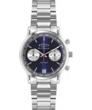 Rotary GB90130-05 Mens les originales esportes vingador azul prata relógio cronógrafo