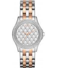 Armani Exchange AX5249 Senhoras prata e rosa banhado a ouro pulseira vestido watch