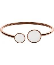 Skagen SKJ0781791 vidro do mar das senhoras levantou pulseira de aço de ouro