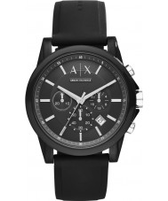 Armani Exchange AX1326 Desporto silicone preta relógio cronógrafo