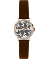 Orla Kiely OK2082 Ladies creme patricia couro marrom relógio de pulseira