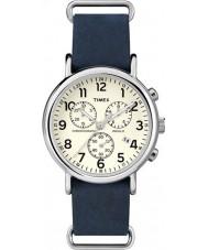 Timex TW2P62100 Weekender relógio cronógrafo azul da correia