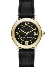 Marc Jacobs MJ1475 Ladies riley couro preto pulseira de relógio
