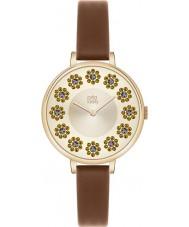 Orla Kiely OK2084 Ladies hera swarovski florido definir tan couro pulseira de relógio