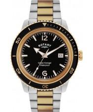 Rotary GB02695-04 Mens relógios oceano vingador rosa relógio do aço