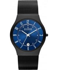 Skagen T233XLTMN Mens Aktiv azul e preto relógio de titânio