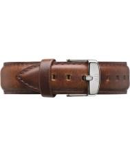 Daniel Wellington DW00200021 Mens clássico st mawes 40 milímetros luz prateada de couro marrom pulseira de reposição