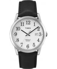 Timex TW2P75600 Mens fácil leitor de couro preto pulseira de relógio