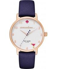 Kate Spade New York KSW1040 Ladies metro de couro azul pulseira de relógio