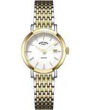 Rotary LB05301-01 Senhoras relógios Windsor duas de ouro tom relógio banhado