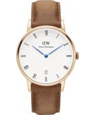 Daniel Wellington DW00100113 Dapper Durham 34 milímetros subiu relógio de ouro
