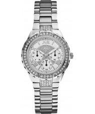 Guess W0111L1 Senhoras viva aço de prata pulseira de relógio