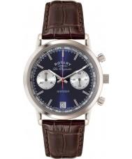 Rotary GS90130-05 Mens les originales esportes vingador azul relógio cronógrafo marrom