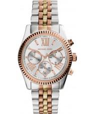 Michael Kors MK5735 Ladies Lexington dois tons relógio cronógrafo de aço