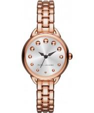 Marc Jacobs MJ3496 Ladies betty pulseira rosa relógio do aço ouro