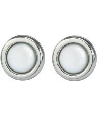 Skagen JESW020 Senhoras brincos de aço branco pérola