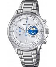 Festina F6852-1 Mens relógio cronógrafo prata