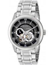 Bulova 96A119 Mens prata automática pulseira de aço relógio