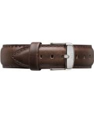 Daniel Wellington DW00200023 Mens clássico Bristol 40 milímetros de prata de couro marrom pulseira de reposição