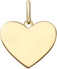 Thomas Sabo LBPE0002-413-12 As senhoras amam ouro amarelo 18 quilates ponte pingente banhado