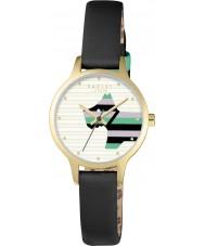 Radley RY2406 de couro preto das senhoras salgueiro relógio pulseira