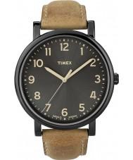 Timex T2N677 Mens relógio redondo clássico tan preto