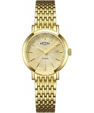 Rotary LB05303-03 Senhoras relógios de ouro Windsor relógio banhado