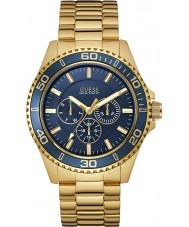 Guess W0172G5 Mens chaser banhado a ouro pulseira relógio