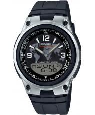 Casio AW-80-1A2VES Mens coleção tempo do mundo Black Watch combi
