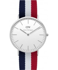 Daniel Wellington DW00100017 Mens clássico 40 milímetros relógio Cambridge prata