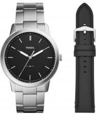 Fossil FS5451SET Mens minimalista relógio dom conjunto