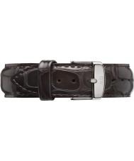 Daniel Wellington DW00200025 Mens clássico york 40 milímetros de prata de couro marrom escuro alça de reposição