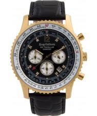 Krug-Baumen 600206DS Mens viajante ar relógio de diamantes