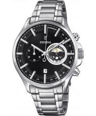 Festina F6852-3 Mens relógio cronógrafo prata