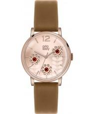 Orla Kiely OK2090 Ladies betty swarovski florido definir tan relógio com pulseira de couro
