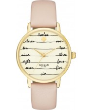 Kate Spade New York KSW1059 Ladies metro de couro marrom pulseira de relógio
